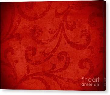 Red Crispy Oriental Style Decor For Fine Design. Canvas Print by Marta Mirecka