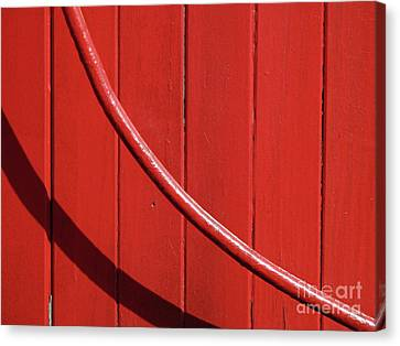 Canvas Print featuring the photograph Red Curve by Newel Hunter
