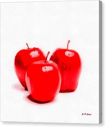 Red Delicious Apples Canvas Print by Elizabeth Coats