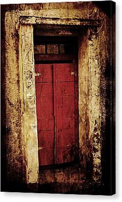 Red Door Canvas Print by Julie Williams