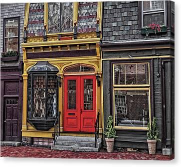Red Door On Belvue Canvas Print by Boyd Alexander