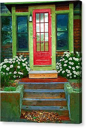Red Door Canvas Print by Susan Lee Giles