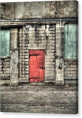Red Door Canvas Print by Tammy Wetzel