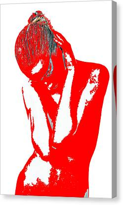 Red Drama Canvas Print by Naxart Studio
