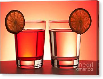 Red Drinks Canvas Print