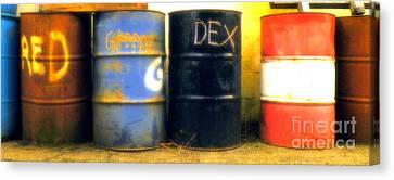 Red Dye Blue Dye Black Dye We Die Canvas Print by Joe Jake Pratt