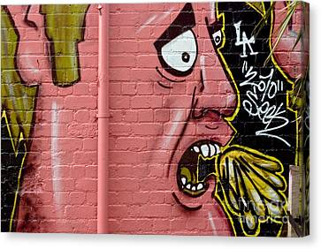 Red Face Anger Canvas Print by Yurix Sardinelly