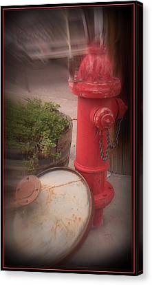 Red Faithful Hangin' At The Corner Canvas Print