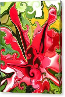 Red Fantasy Lily Canvas Print