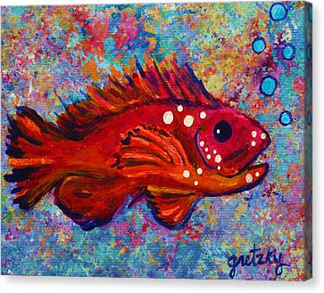 Red Fish Canvas Print by Paintings by Gretzky