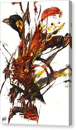Red Flame II 65.121410 Canvas Print by Kris Haas