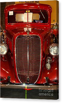 Red Ford Canvas Print by Susanne Van Hulst