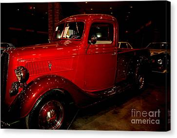 Red Ford Truck Canvas Print by Susanne Van Hulst