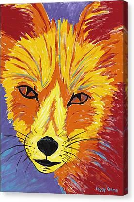 Red Fox Canvas Print by Peggy Quinn