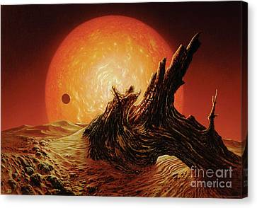 Red Giant Sun Canvas Print by Don Dixon