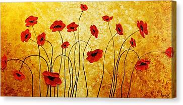 Red Gold Canvas Print by Irena Sherstyuk