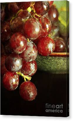 Red Grapes Canvas Print by Darren Fisher