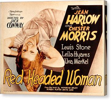 Red-headed Woman, Jean Harlow, 1932 Canvas Print by Everett