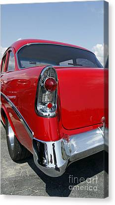 Canvas Print featuring the photograph Red Hot Rod by Denise Pohl