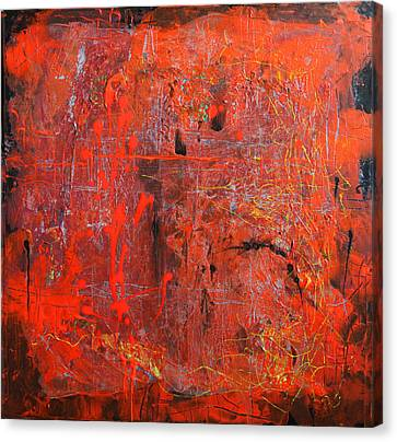 Canvas Print featuring the painting Red Ice by Lolita Bronzini