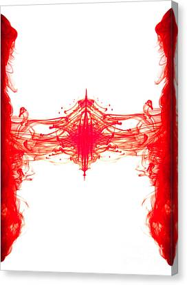 Red Ink Abstract Canvas Print by Richard Thomas