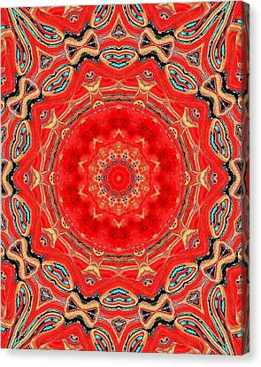 Canvas Print featuring the painting Red Kalideoscope by Carolyn Repka