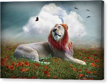 Red Lion Canvas Print by Ethiriel  Photography