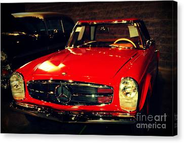 Red Mercedes Sl Canvas Print