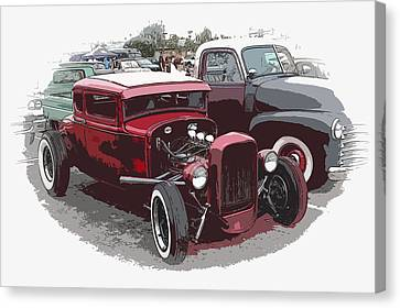 Red Model A Coupe Canvas Print by Steve McKinzie