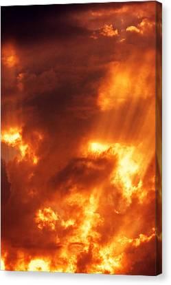 Red Mystical Sky Canvas Print by Odon Czintos