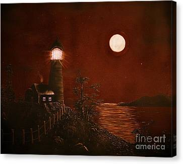 Red Night Canvas Print by Barbara Griffin