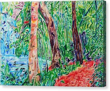 Red Path 03 Canvas Print by Bradley Bishko