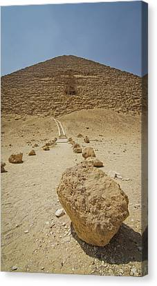 Red Path Of Red Pyramid Canvas Print by © Marc Mateos