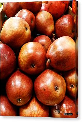 Red Pears Canvas Print by Methune Hively