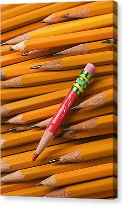 Red Pencil With Yellow Ones Canvas Print by Garry Gay