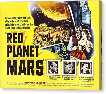 Red Planet Mars, Herbert Berghof, Peter Canvas Print by Everett