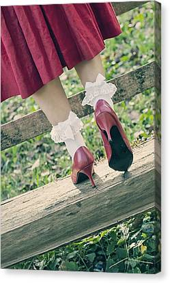 Red Pumps Canvas Print by Joana Kruse
