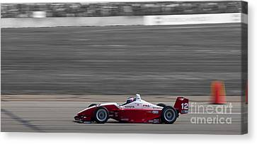 Red Racer Canvas Print by Darcy Michaelchuk