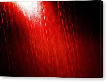 Red Rain 2 Canvas Print by Sandro Ramani