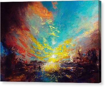 Red Rain Canvas Print by Neil McBride