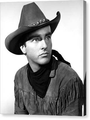 Red River, Montgomery Clift, 1948 Canvas Print by Everett