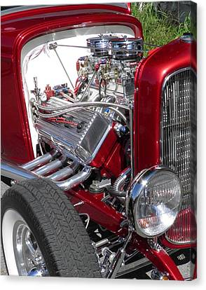 Red Roadster Hot Rod Fine Art Photo Canvas Print by Sven Migot
