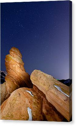 Red Rock Stars Canvas Print by Adam Pender