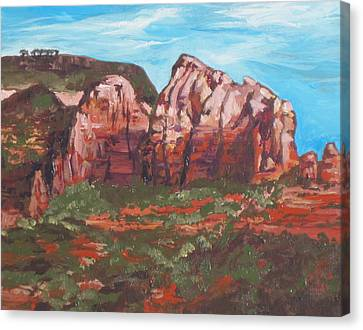 Red Rocks Canvas Print by Sandy Tracey