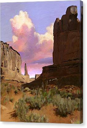 Red Rocks Canvas Print by Snake Jagger