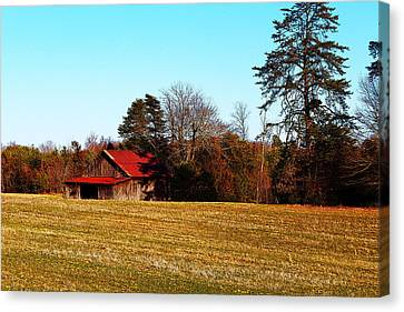 Red Roof Tobacco Barn Canvas Print