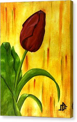 Canvas Print - Red Rose by Baraa Absi