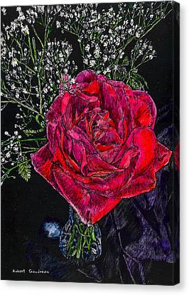 Red Rose Canvas Print by Robert Goudreau