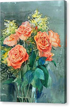 Red Roses Canvas Print by Peter Sit