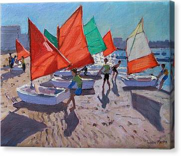 Red Sails Canvas Print by Andrew Macara